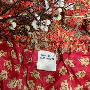 Dresses - 100% Silk Floral Print Dress Medium